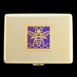 Bee Metal Credit Card Wallets or Cigarette Cases