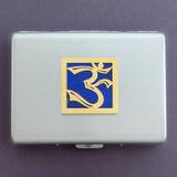 Om Symbol Metal Cigarette Cases or Credit Card Wallets