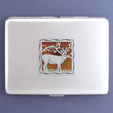 Deer Metal Cigarette Case Wallet