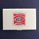 Eye Metal Wallet or Cigarette Case