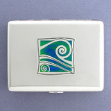 Wave Metal Cigarette Case Wallets