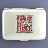 Tiger Metal Credit Card Wallet or Cigarette Case
