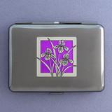 Iris Flower Credit Card Wallet & Cigarette Case