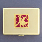 Ballroom Dancers Metal Case or Cigarette Wallet