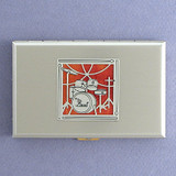Drum Set Metal Case or Cigarette Wallet