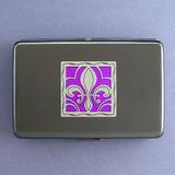 Fleur De Lis Credit Card Holder or Cigarette Case