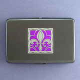Fleur De Lis Credit Card Holder or Cigarette Case