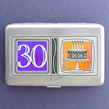 30th Birthday Credit Card Wallets or Cigarette Cases