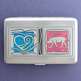 Love Pigs Credit Card Wallets or Cigarette Cases