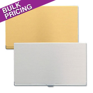 Deep Blank Wholesale Business Card Case Holders - Bulk Silver or Gold