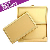 Raised Edge Deep Gold Business Card Cases