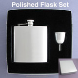 Engraved 6 Oz Flask Gift Sets for Women & Men