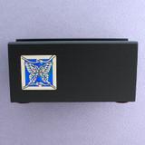 Butterflies Wood Personalized Desktop Business Card Holders