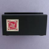 Craftsman Rose Wooden Business Card Holders for Office Desk