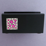 Unique Leopard Print Desktop Business Card Holder Stand