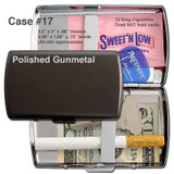 Gunmetal Cigarette Case - Double Sided