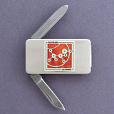 Alcohol Money Clip Pocket Knife