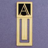 Monogram Letter A Engraved Bookmark