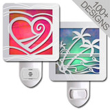 Cool Stained Glass Night Lights in 100s of Polished Silver Designs