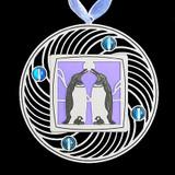 Silver Penguin Ornament