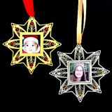 Personalized Photo Ornament - Gold or Silver