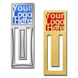 Logo-Etched Custom Metal Bookmarks for Gifts & Promotions