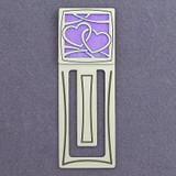 Heart Engraved Metal Bookmark