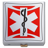 Red EMT Pill Box for Paramedics