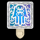 Stained Glass Hamsa Night Light