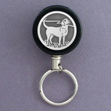Black Lab Retractable Key Reel - Steel Wire
