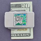 Ram Pocket Knife Money Clip