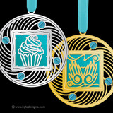 Teal Christmas Ornaments - 100+ Designs