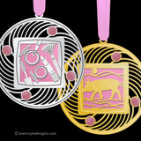Pink Christmas Ornaments - 100+ Designs