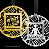 Black Christmas Ornaments - 100+ Designs