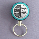 Attorney Retractable Key Chains - Steel Cord