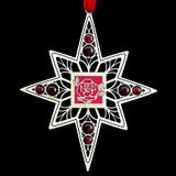 Rose Christmas Ornament