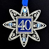 Engraved 40th Christmas Ornaments
