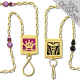 Gold Beaded Name Badge Holder Lanyards