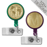 Unique Gold Retractable ID Badge Holders in 100s of Designs