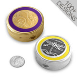 Round Metal Pill Boxes - Personalized for You