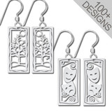 Small Antique Silver Earrings