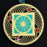 Bicycle Wheel Artistic Christmas Ornaments