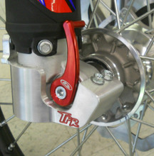 BETA Lower Fork Guard for 2010-2017 - All Enduro, 2T, 4T, RR, RR-S and RS models  Shown On Bike that has Axle Pull - Side View