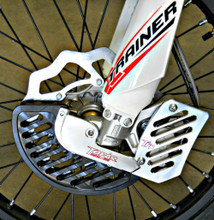 BETA X-TRAINER Front Brake Disc Guard Kit 2015-2017 with Optional Caliper Guard (Shown On Bike)
