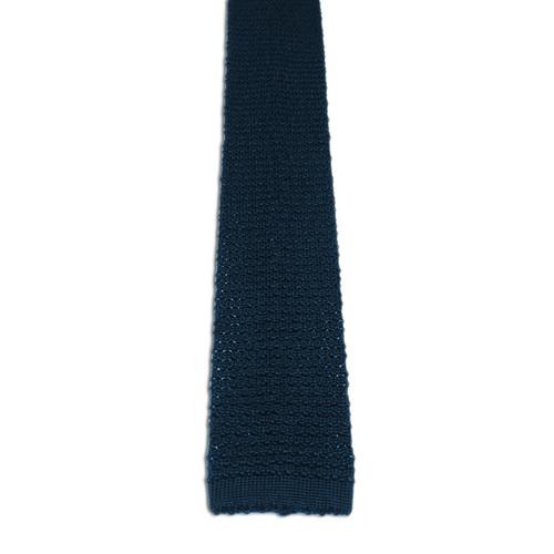 Chipp Navy Silk Knit Tie
