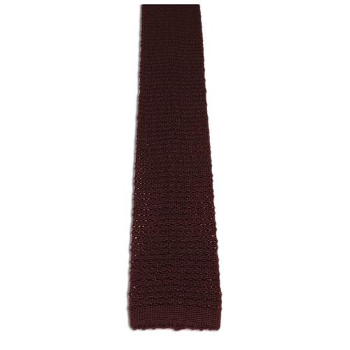 Chipp chocolate knit tie