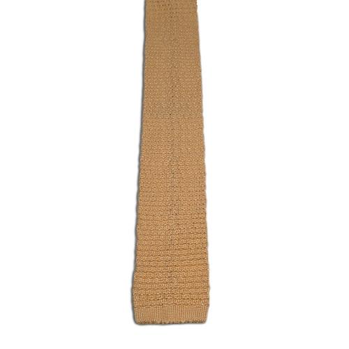 Golden Yellow Silk Knit Tie