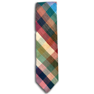 Chipp Silk Shantung Check Tie
