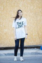 Classic Take Love Tee - White