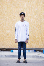 We Love Because Long Sleeve - White